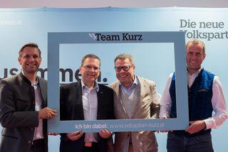 Kandidatenpräsentation: Wolfgang Hattmannsdorfer, August Wöginger, Arno Perfaller, Rudolf Raffelsberger (v.l.).