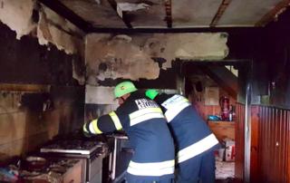 In dieser Küche brach der Brand aus