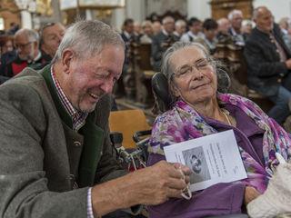 1. Ehejubiäumfeier / Erika & Erich Reich - 50j /  Stiftsbasilika Stams / 03.09.2017 / @Vanessa Weingartner-Rachlé/Diözese Innsbruck