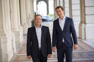 August Wöginger (l.) ist seit Jahren mit Sebastian Kurz freundschaftlich verbunden.