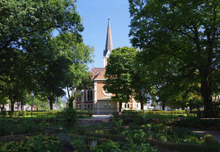 Evangelische Kirche vom Stadtpark aus - immer wieder eine Freude diese schöne Kirche zu betrachten