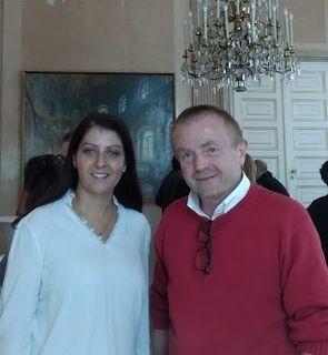 Staatssekretärin Mag. Muna Duzdar im Gespräch mit Dr. Robert Porod beim Lehrgang.