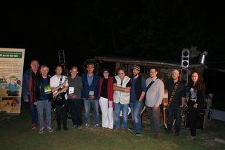 """Für einen gelungenen Abend """"Beim Franz"""" sorgten Horst Horvath, die Band Schilfgürtel, Franz Stangl, Gerhard Altmann, Hannes Vyoral, Annemarie Klinger und Silke Rois."""