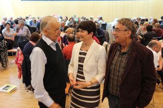 Prof. Paul M. Zulehner, Seelsorgeamtsleiterin Elisabeth Rathgeb und Gemeindereferent Michael Strebitzer.
