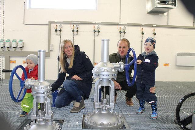In der Pumpstation gab es viel zu entdecken - für Groß und für Klein.