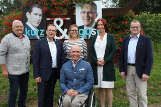 V. l.: Otto Straßl, August Wöginger, Isabella Roßdorfer, Walter Ablinger, Agnes Reiter, Peter Gumpinger (v. l.).