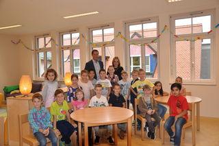 VS-Kinder mit BGM Harald Mulle und Brigitta Koopmans