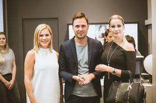 """""""Oscar & Filu"""" in der Goldschmiedgasse: Chef Philipp Stoimaier begrüßte bei der Eröffnung u. a. Johanna Setzer (l.) und Carmen Knor."""