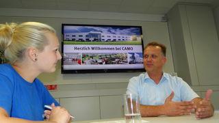 Lehrlingsredakteurin Izabela Gadzina sprach mit Geschäftsführer Reinhard Eidler über die Lehrlingsausbildung.