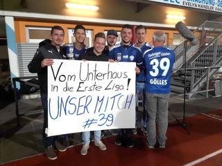 Dank des erfolgreichen Auftakts mit dem TSV Hartberg hat sich eine Fangruppe rund um den 25-jährigen Stefan Gölles gebildet.