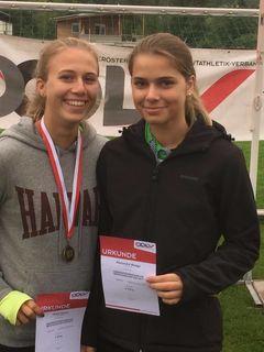 Alexandra Waage und Anna Humer zeigten bei den U20-Landesmeisterschaften in Steyr ihr Talent im Speerwurf.