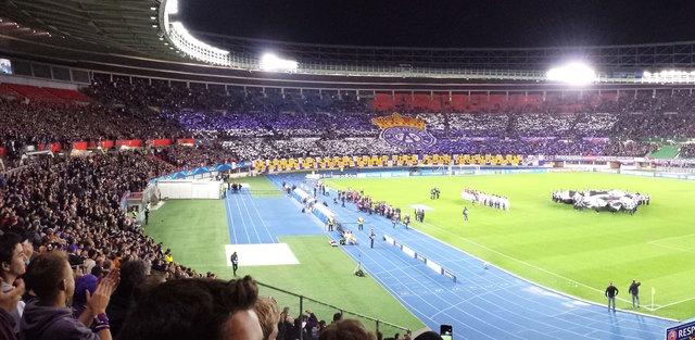 30.000 Fußballfans werden zum heutigen Spiel im Happel-Stadion erwartet.