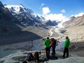 Gletschervermessung auf der Pasterze.