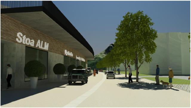 Das Werfenwenger Ortszentrum wird zur Begegnungszone samt Baumallee und neuer Beleuchtung umgestaltet.