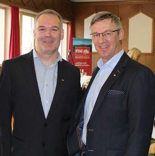 FSG-Regionalvorsitzender Martin Strasser, FSG-Vorsitzenden von Tirol Christian Hauser (r.).