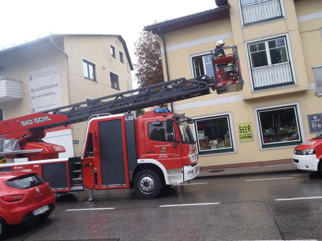 Drehleitereinsatz in Bad Ischl.