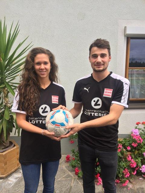 Sie sind ein richtiges Team geworden. Lebensgefährtin Melanie Lanner und Christian Zankl.