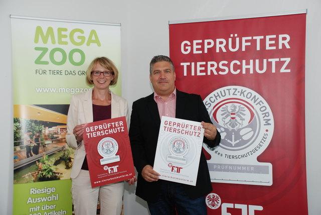 Megazoo-Prokurist Holger Luer und Martina Dörflinger von der Fachstelle für tiergerechte Tierhaltung und Tierschutz.