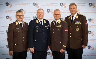 Franz Humer, Gerald Hillinger, Albert Kern, Armin Blutsch (von links).