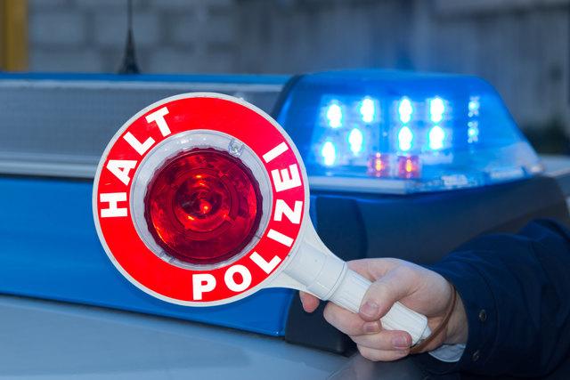 Die Polizei stoppte den mutmaßlichen Treibstoffdieb.