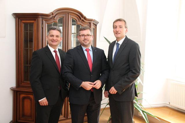 Maurice Androsch, Ludwig Schleritzko und Jürgen Maier (v.l.).