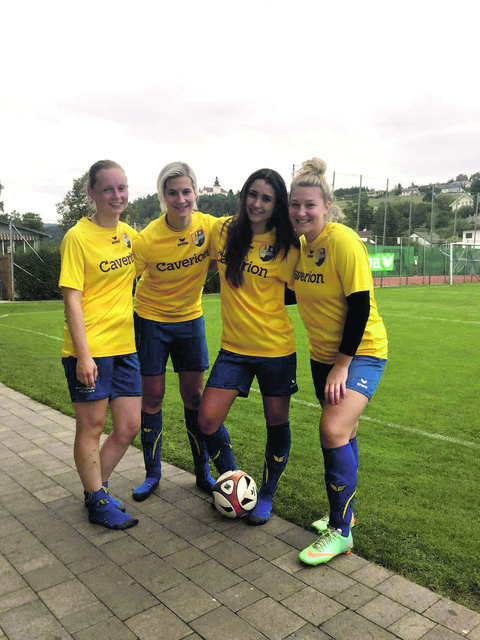 Torschützinnen (von links): Hanna Ruhaltinger, Tina Loisinger, Vanessa Voit und Judith Benda.