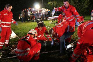 Das Rote Kreuz packte kräftig an bei der Großübung in Haag am Hausruck.