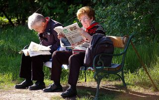 Anna & Franz sind begeisterte bz-Leser, sie freuen sich schon auf die nächste Ausgabe.  © Gerhard Singer