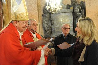 Sendungsfeier der St. Pöltner Religionspädagogin Margit Stoiber mit Bischof Klaus Küng