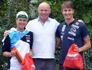 Lindner (mitte) mit Kratz (links) und Schlagbauer (rechts)