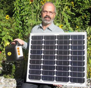 Schon diese kleine Solarmodul sammelt jedes Jahr mindestens 50 Kilowattstunden.