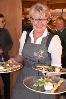 Katharina Stiegler koordinierte die Küche an diesem Abend