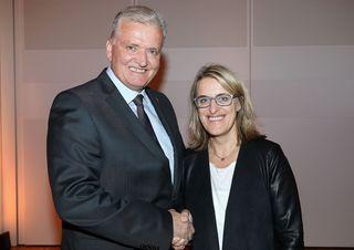 Landesparteivorsitzender Landesrat Franz Schnabl mit Amstettens Bezirksvorsitzender Nationalratsabgeordnete Ulrike Königsberger-Ludwig