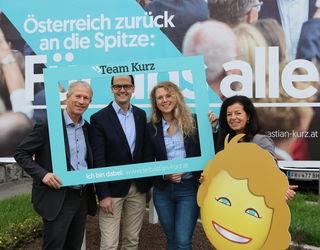 Bezirksparteichefin Gabriele Lackner-Strauss (r.) mit ihrem Spitzenteam (von links): Erich Traxler, Rudolf Ortner und Johanna Jachs.