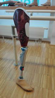 Bereits hochentwickelt: Die Beinprothese.