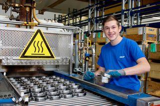 Michael Zweckmayr hat sich für eine Lehre als Werkstofftechniker bei SKF Österreich entschieden.