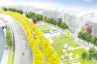 Die Fertigstellung ist bis 2020 geplant: So wird das neue Erholungsgebiet am Schwedenplatz aussehen.