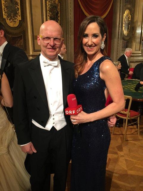 Thomas Gauss mit ORF-Moderatorin Kati Bellowitsch