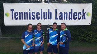 Ein Teil der Meistermannschaft 45+: Thomas Radlbeck, Jürgen Althaler, Markus Raneburger Markus und Gerhard Grünauer (v.l.)