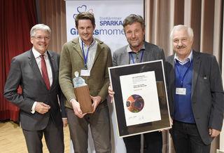 Stolz auf den Nachhaltigkeitspreis: Sandra Venus, die Preisträger Hanness und Hans Müller, Erhard Juritsch, Peter Kaiser