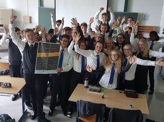 Auch die Jüngsten, die Schülerinnen und Schüler der 1 C, hatten schon viel Spaß beim vielseitigen Programm am Europäischen Sprachentag!