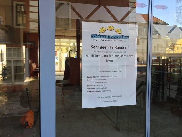 Seit 2. Oktober gibt es die Bäckerei Meixner-Müller am Neuen Platz nicht mehr. In die Räumlichkeiten wird Tamara Olivotto mit ihrem Café einziehen.