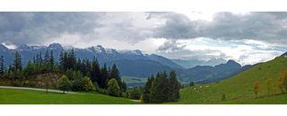Blick von der Postalmstraße zum Tennengebirge