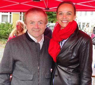 Bezirksobmann des sozialdemokratischen Wirtschaftsverband Dr. Robert Porod mit Bundesministerin Dr. Sonja Hammerschmid