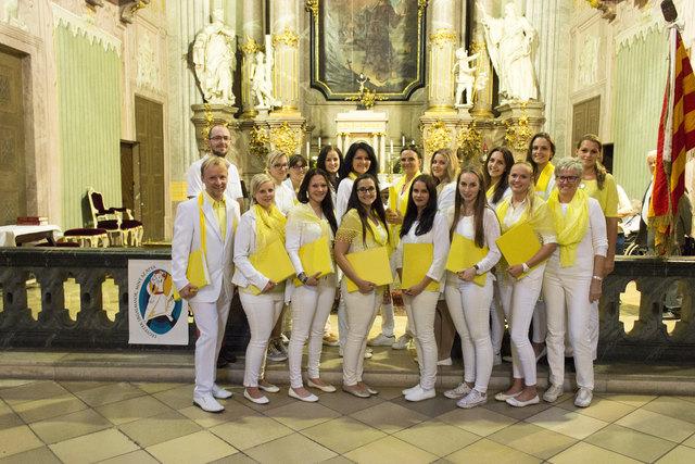 """Die Mitglieder des """"Chorus Paradisi"""" aus St. Margarethen verlosen bei ihrem Kirchenkonzert rund um die Liebe am 14. Oktober in St. Andrä eine Hochzeitsgestaltung"""