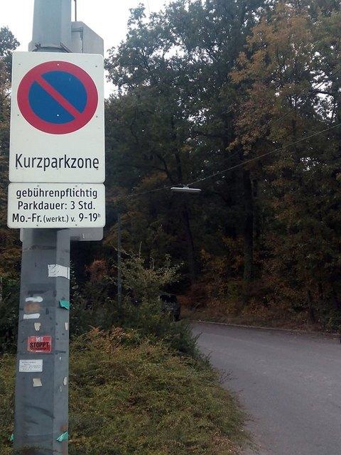 Parkplätze fehlen, aber Kurzparkzonen im Wald !