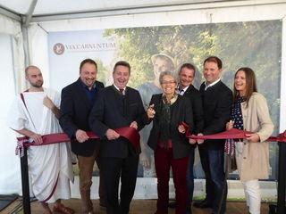 Die Via Carnuntum ist eröffnet: Landesrätin Petra Bohuslav ist stolz auf ein weiteres Leader-Projekt in Carnuntum.