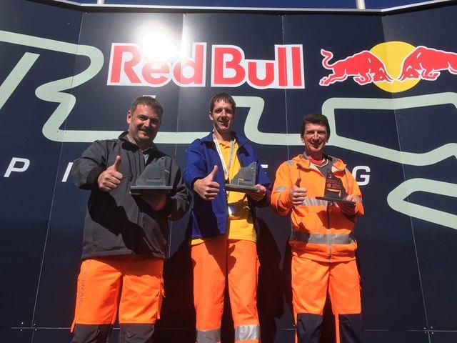 Sieger: Siegfried Sattler, Gerhard Vock und Bertram Unger (v. l.). Foto: Asfinag
