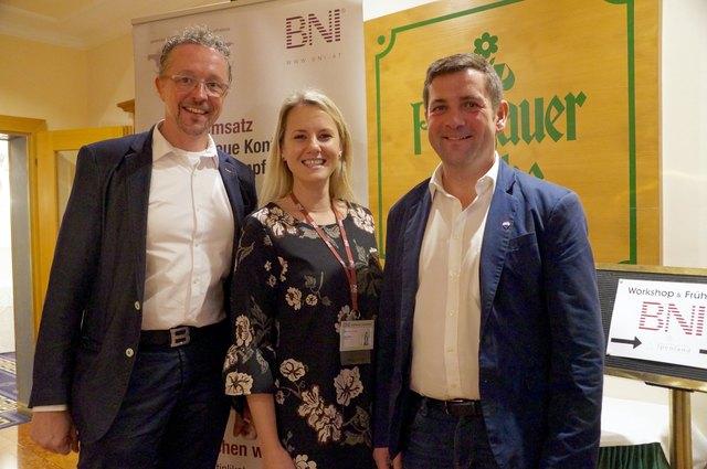 Hans Maurer (Chapter-Direktor), Bettina Rieder (Koordinatorin der Mitglieder) und Thomas Wentz (Kassier) (v.r.).
