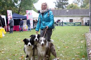 Doris Schmidt aus Stockerau mit Gwenni, Rosi und Pixie.